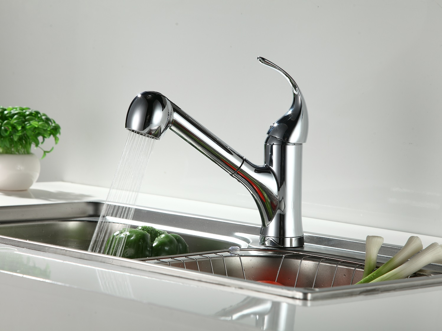 sink moen spot tullis lowes faucet pl dispensers at water pull handle stainless resist shop kitchen com down faucets