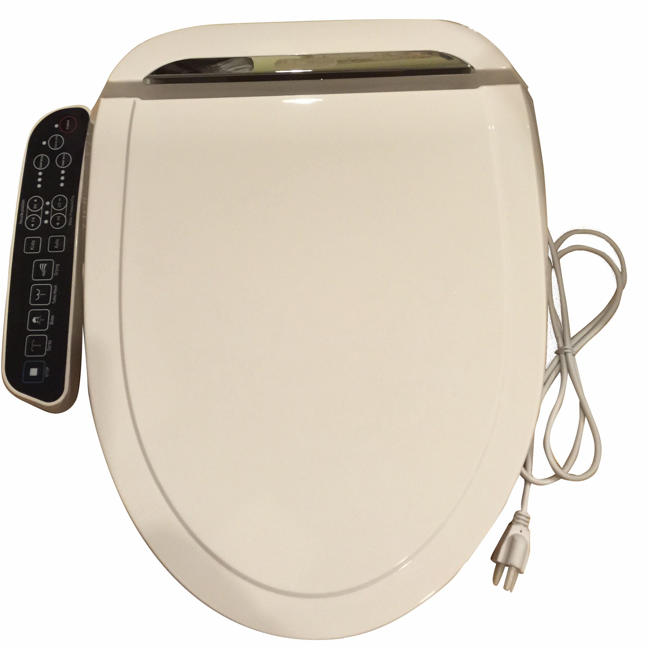 E 260a Elongated Electric Bidet Seat With Dryer And Deodorizer White Welcome To Bidet4me